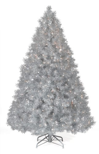 4 ft. Silver Tinsel Christmas Tree