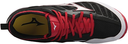 Turf Mizuno Baseball 2 Players Red Shoes Black Men's Trainer MIZD9 wXxqXTH7