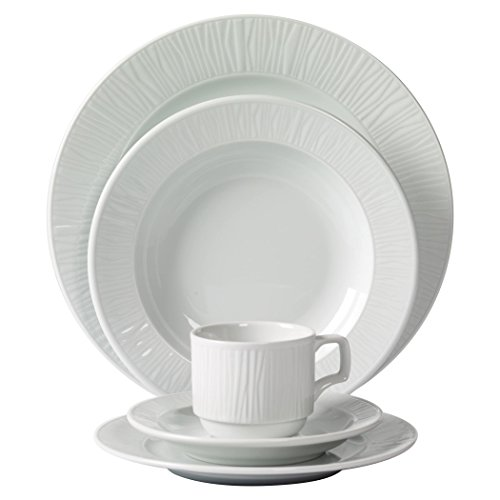 Tabletops Unlimited, Inc. Mitterteich Emotion Embossed Porcelain 20-piece Dinnerware Set