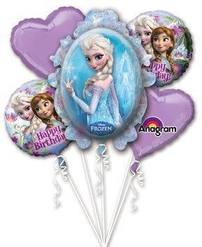 Disney Frozen Elsa and Anna Balloon Bouquet Birthday Party Favor Supplies 5ct Foil Balloon Bouquet Anagram SG/_B00KYCJRAS/_US