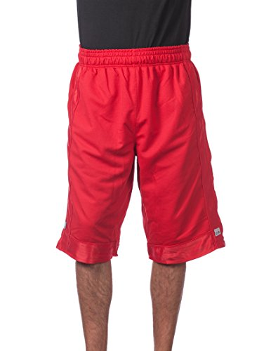 Pro Club Men's Heavyweight Mesh Basketball Shorts, Red, 5X-Large