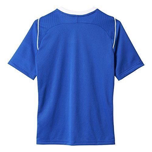 Adidas Youth Tiro 17 Soccer Jersey M Bold Blue-White (Interlock Embroidered)