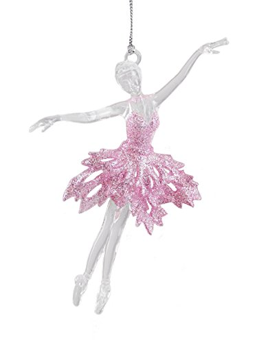 Caffco Glittery Ballerina Dancer Hanging Christmas Ornament