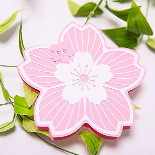 Maikouhai Exquisite Cherry Blossom Shape Carving Lace Wedding Invitation Card Party Festival Graduation Envelope Greeting Card (B Style) ()