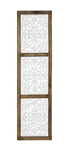 Habitat Amy White Framed Carved Medallion Wall Art, White & Offwhite ()