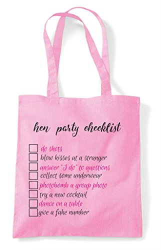 Tote Do Shopper Customised Add Bag Your Dares Personalised Checklist Party Lemon Own Cheeky Hen qwzSvRw
