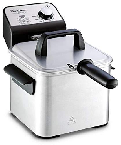 Moulinex Compact Pro AM3220 Freidora de 2 l de aceite y 600 g de alimento, cuba acero inoxidable extraíble, accesorio para freír a dos niveles, fácil ...