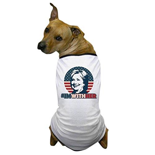 Democrat Dog T-shirt (CafePress - Hillary 2016 - I'm With Her - Dog T-Shirt, Pet Clothing, Funny Dog Costume)