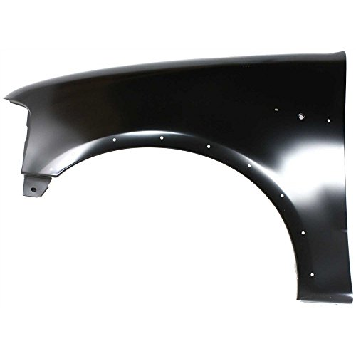 (Evan-Fischer EVA16972011815 Fender for Ford F-Series 97-04 LH W/Wheel Opening Molding Holes Front Left Side)