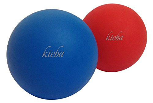 (Kieba Massage Lacrosse Balls for Myofascial Release, Trigger Point Therapy, Muscle Knots, and Yoga Therapy. Set of 2 Firm Balls (Blue and Red) )