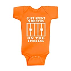 Funny Cute Baby Boy & Baby Girl Clothes | Handmade Bodysuits by Aiden's Corner | 9 Months On The Inside 16