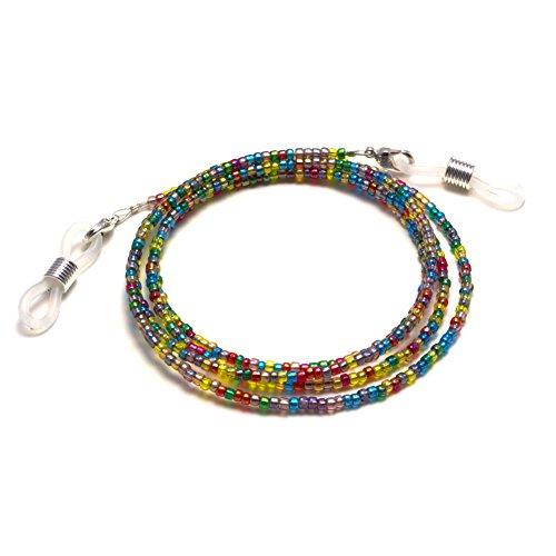 Bead Eyeglass Chain - Sunglasses Cord Neck Strap Holder (Rainbow - Frames Eyeglass Rainbow