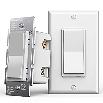 Smart Wifi 3 Way Wall Dimmer Light Switch, Works with Existing Regular 3-Way Switch, Compatible with Alexa and Google Home