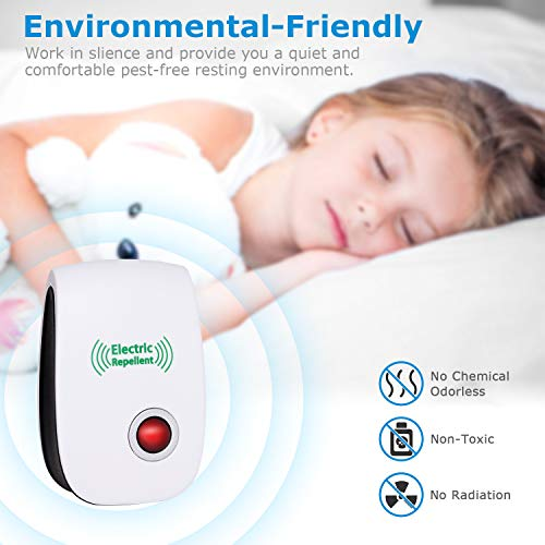VEPOWER 2019 Upgraded Electronic Repellent, Pest Repeller Usage, Best to Mice, Ants, Spiders, and