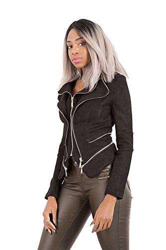 Mujer LustyChic LustyChic LustyChic Chaqueta Negro para Negro Chaqueta para Mujer Chaqueta Rqna4fRHw