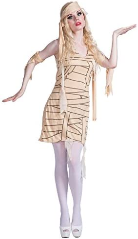 EraSpooky Disfraz de Momia para Mujer Vestido de Fantasía Egipcio ...