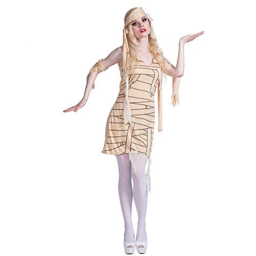 EraSpooky Women's Egyptian Theme Party Mummy Halloween Costume(As Picture, (Womens Mummy Halloween Costumes)