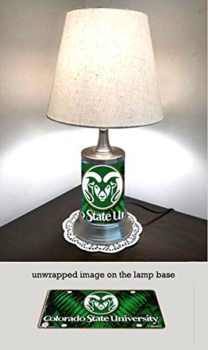 JS Table Lamp with Shade, Colorado State Rams Plate Rolled in on The lamp ()