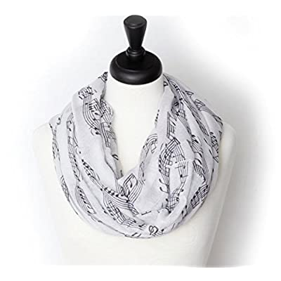 KnitPopShop Music Note Infinity Loop Scarf for Women in the Summer