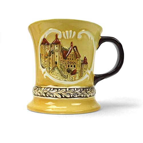 Deluxe German Village Scene Collectible Coffee Mug