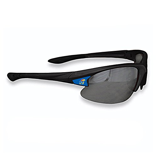 Purchadise NCAA Black Elite Sunglasses - UVA and UVB Protection-Many Teams! (Kansas - Sunglasses Jayhawks Kansas Black