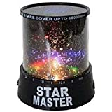 Generic Fairy Romantic Colourful LED Star Light Projector Night Light Kids Bedroom Bed Light for Christmas Light Home Decoration
