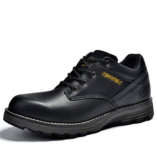 Martin Boots Men's Shoes Souliers Simples D'Homme Chaussures en Cuir Black hdw6OeFqg7