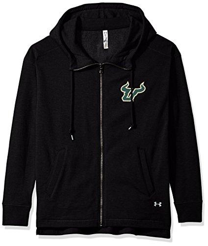 (Under Armour NCAA South Florida Bulls Womens NCAA Women's Full-Zip Fleece Hood, Small, Black )