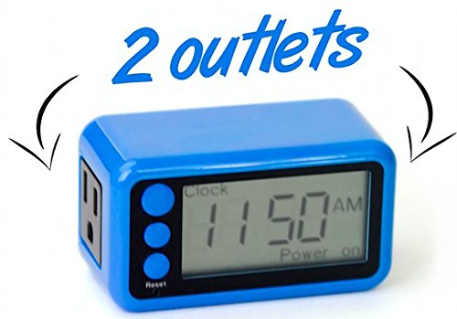 Tech Restarter Digital Outlet Timer - Keep Your Devices Running Like New With this Tech Digital Outlet Timer, 2 Outlets (Reset Timer compare prices)