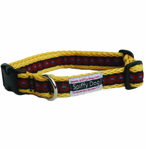 Spiffy Dog Air Sunfire Dog Collar, S, Yellow