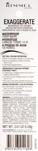 Rimmel Exaggerate Waterproof Eye Definer, Noir 261, Black