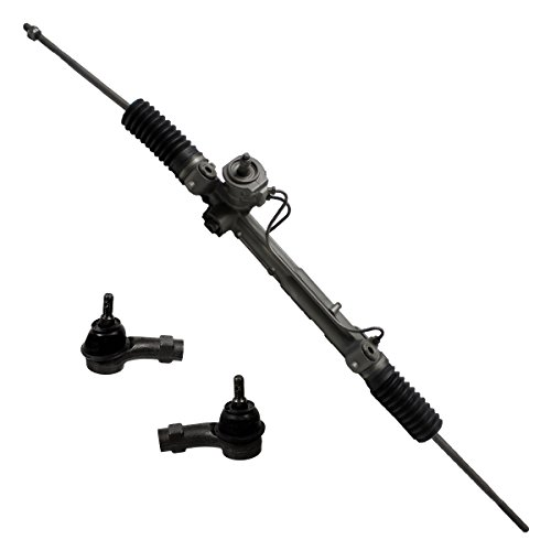Detroit Axle - New 3-Piece Front Suspension Kit - All (4) Inner and Outer Tie Rod, (1) Rack and Pinion - 2008-2011 Ford Focus S, SE, SES Only No Variable Steering Models