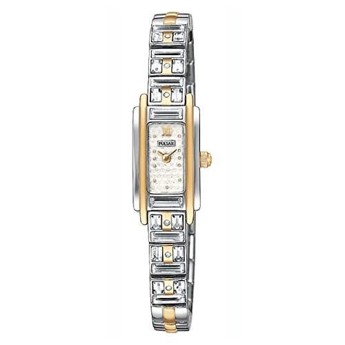 Pulsar Women's PEX534 Crystal Accented Dress Two-Tone Stainless Steel Watch
