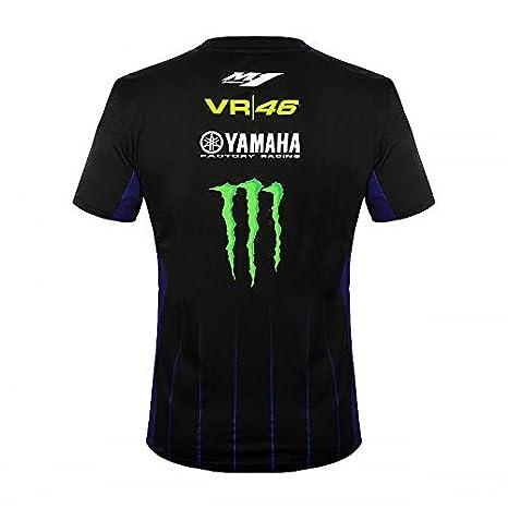 Hombre Valentino Rossi Yamaha Dual-Black Camiseta