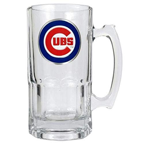 Great American Products Gap MLB Chicago Cubs Sports Team Logo Table Bar Pub Beer Drink Macho Glass Mug Clear