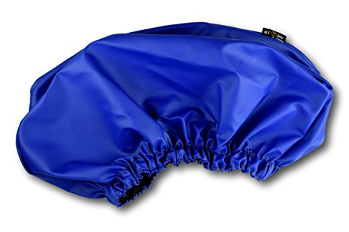 Colored Winch Cover By El Jefe | Dust-proof, Waterproof, UV & Mildew-Resistant Winch Protection Cover W/ Sewn-In Elastic Band | Ideal For Electric Winches Up To 17500 Lbs (Blue)