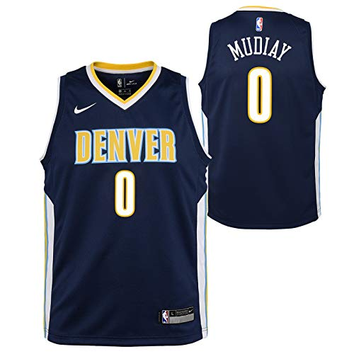 Outerstuff Emanuel Mudiay Denver Nuggets NBA Nike Youth Navy Blue Icon Swingman - Denver Blue Nuggets Jersey