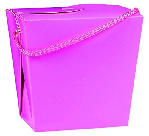 Amscan Plain Birthday Party Favor Take Out Box, 7 x 5, Hot -