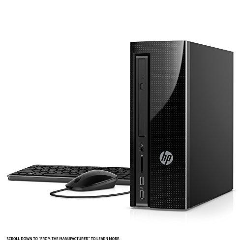 HP Slimline Desktop Computer, Intel Pentium J4205, 4GB RAM, 1TB hard drive, Windows 10 (270-a010, Black) by HP (Image #3)