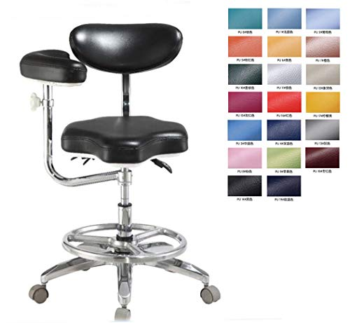 (Dental Medical Doctor Stool Mobile Dentist Seat Chair Deluxe with Armrest)