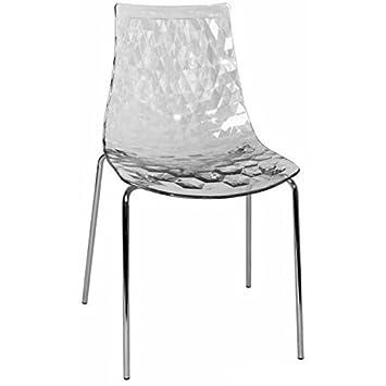 Calligaris Sedia Design Ice Trasparente: Amazon.it: Casa e cucina