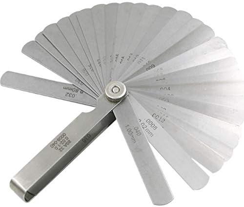 クリアランスルーラー高精度ギャップ測定0.02-1.0mm 32個 小さなハードウェアツール