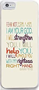 Dseason Iphone 5C case, High Quality Unique Design Protector quotes i am your god,i will strengthen you.