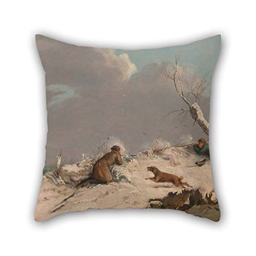 (eyeselect Cushion Covers of Oil Painting Henry Thomas Alken - Duck Shooting in Winter 20 X 20 Inches / 50 by 50 cm Best Fit for Son Dance Room Gril Friend Car Valentine Home Each Side for Christmas)