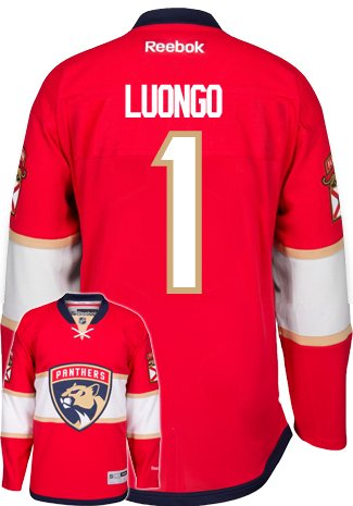Roberto Luongo New Florida Panthers Reebok Premier Home Jersey NHL Replica