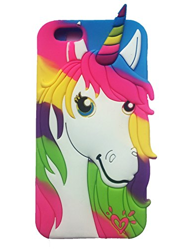 La fierté du drapeau arc-en-ciel Unicorn de forme 3D Mobile Housse étui silicone gel arrière pour iPhone 7 Tpu Peau Plus © Sloth Cases