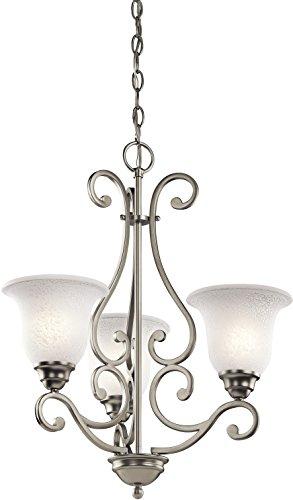 Kichler 43223NI Camerena Chandeliers Lighting, Brushed Nickel 3-Light (20