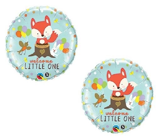(LoonBalloon Fox Woodland Animals Welcome Little One Baby Shower (2) 18