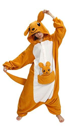 Disfraces de Animal salón Kigurumi para pijamas de Halloween Anime Cosplay pijama de una pieza Canguro