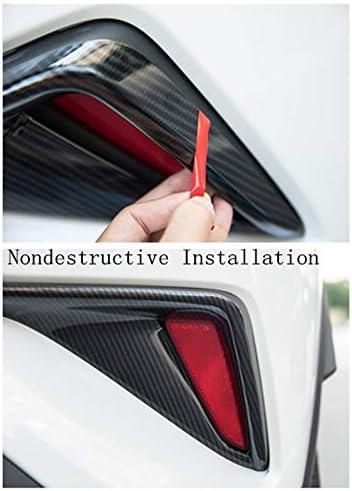 Yueng Auto-Heck-Nebel-Nebelscheinwerfer-Licht-Abdeckung Trim 2-Pack